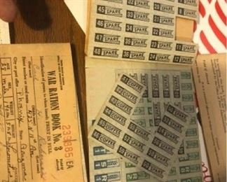 World War II Ration Books and Other Vintage Items