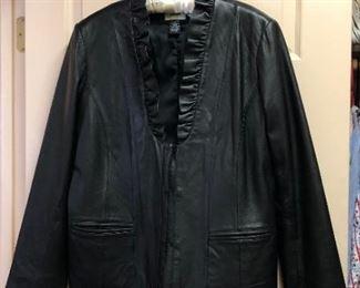 Neiman Marcus Exclusive Ruffled Leather Jacket