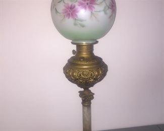 Antique Victorian Parlor Lamp