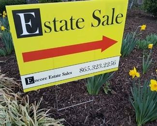 Follow the Yellow signs to our next Sale in Farragut