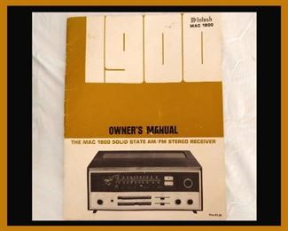 McIntosh 1900 Owners Manual