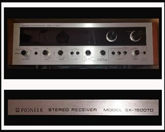 Pioneer Stereo Receiver Model SX-1500TD in Excellent Working Order