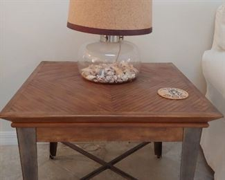 Wood Top & Metal Coffee Table (2 Available)