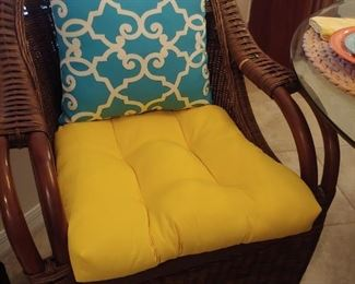 Chairs with Accent Pillows