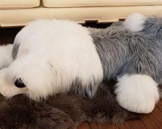 Sheepdog on Sheepskin Rug https://ctbids.com/#!/description/share/332950
