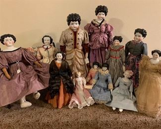 Antique China Head dolls.