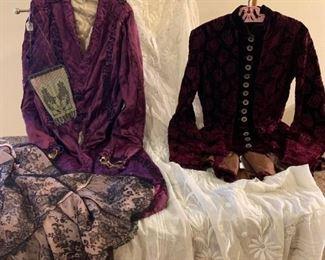 Antique women's clothes.