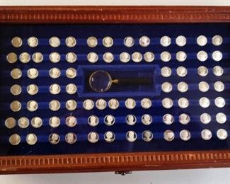 Franklin Mint Sterling Silver Coins of Presidents & Wives