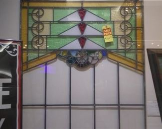 Large Victorian Stainglass Window Now $125