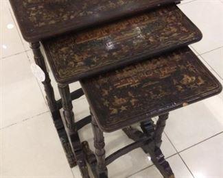 Antique Paper Mache Nesting Tables