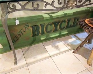 Large Beeson Bicycle Sign