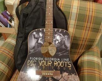 Autographed Fender Guitar Florida Georgia Line