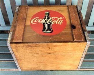 MVP001 Vintage Coca-Cola Wooden Crate Box