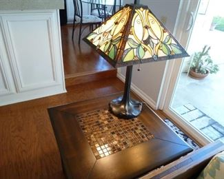 the other matching lamp. So pretty with the light on.