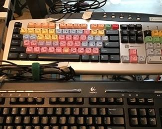 Logitech and Logie keyboards