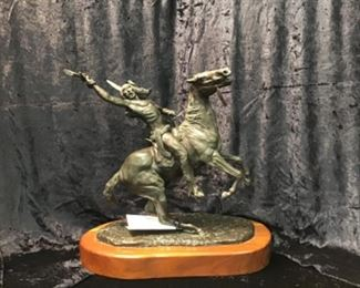 Sioux  – Cheyenne bronze by Texas Bronze artist Randy Steffens (1917–19 77)  6/30  Signed, numbered, dated.