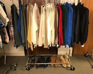 Men's size M/L long sleeve shirts and turtlenecks.
