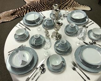 Contessa China. Multiple service for eight sets and many serving bowls, platters, tea sets, etc.