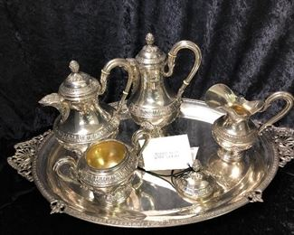 Mid 1800 European Neoclassical. Sterling SilverTea set