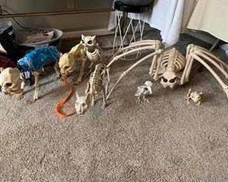 Large skeletal animal decorations