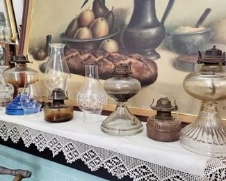 Vintage/ antique oil lamps