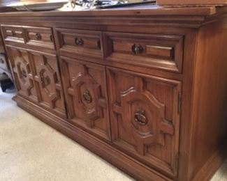 Spanish style sideboard - has matching table & China buffet