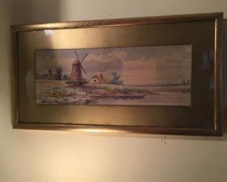 Windmill watercolor