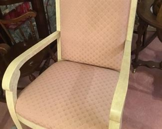#5 HENREDON set of 6 - 4 chairs & 2 armchairs $325