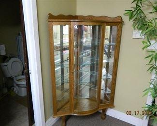 antique corner curio cabinet