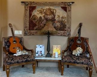 Guitar Tapestry Side chair