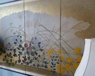 Four panel screen