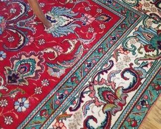 Handmade, signed Persian rug