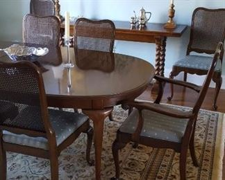 Dining suite:table & 8 chairs