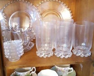 Candlewick & tea cups