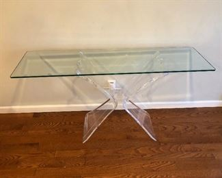 Console with Lucite base