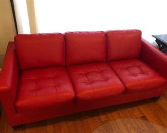 W. Schillig Leather Sofa