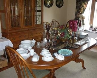 Dining Room Table and Chairs and China Cabinet