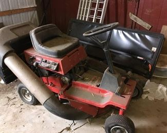 . . . a Toro riding lawn mower