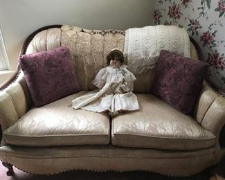 . . . a beautiful French Provincial settee