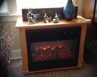 Amish, oak, electric fireplace