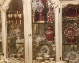 China and silverwear and Italian Furniture
