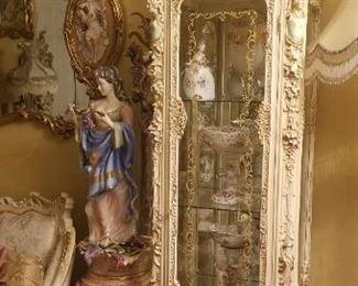 Italian glass cabinet by Silik