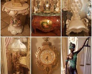 French, Italian, Victorian furnishings