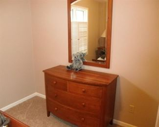 ETHAN ALLEN DRESSER AND MIRROR