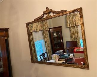 Antique gold leaf mirror.