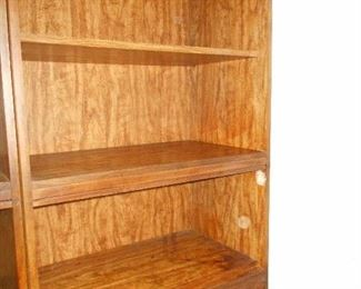 3 piece bookcase/media/curio shelfs  Sold separately