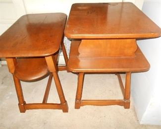 Vintage maple lamp tables