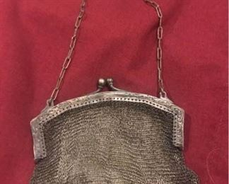 German Silver Soldered Mesh Bag