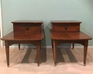 Vintage B P John Mid Century Modern Side Tables