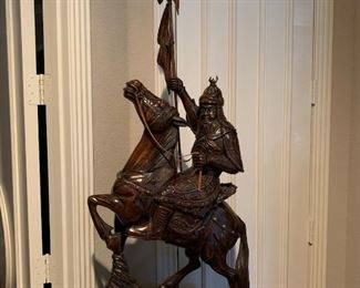 Asian Warrior Sculpture